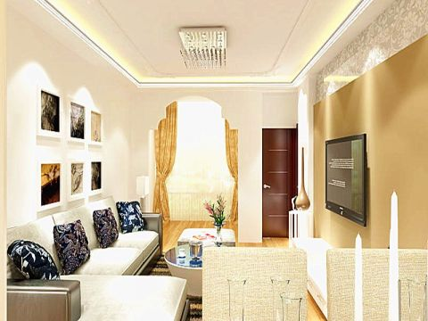 花果园L区现代简约113平三居室装修效果图