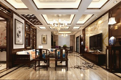 汉泉山庄独栋别墅中式风格