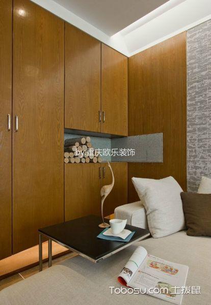 卧室咖啡色衣柜日式风格效果图