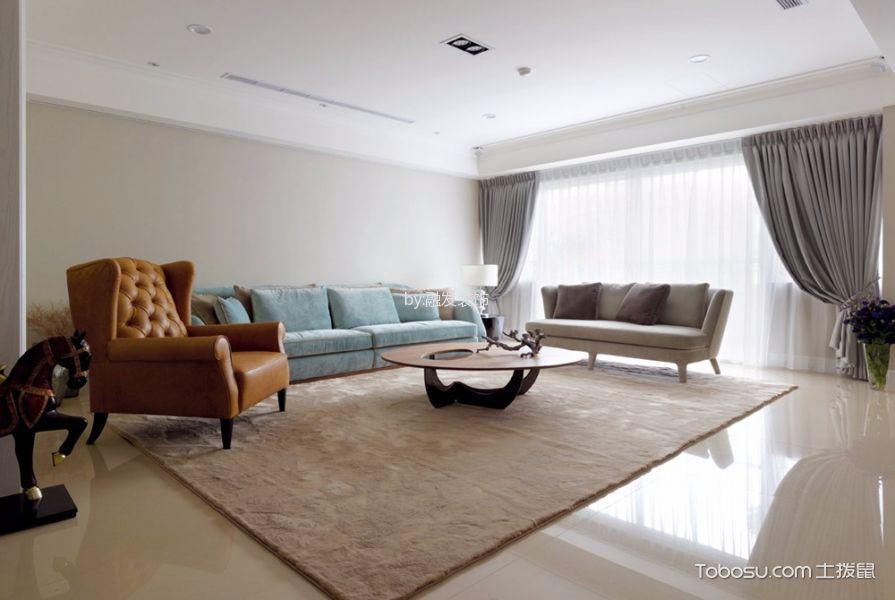 现代简约风格115平米三室两厅新房装修效果图