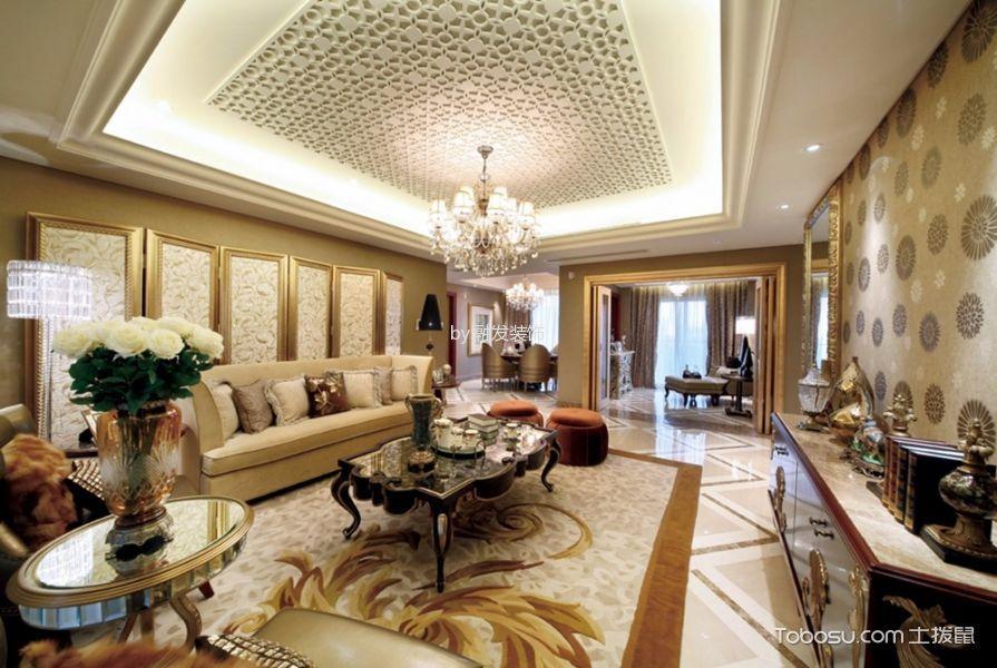 歐式風格100平米兩室兩廳新房裝修效果圖