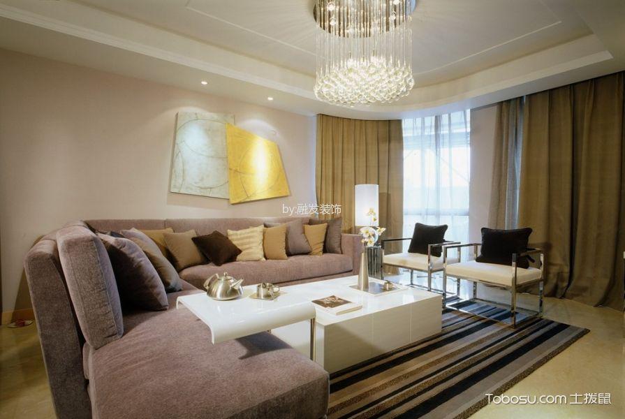 現代簡約風格95平米兩室兩廳新房裝修效果圖