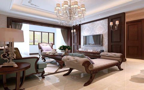 国信紫云台120平米新古典风格四居室装修效果图