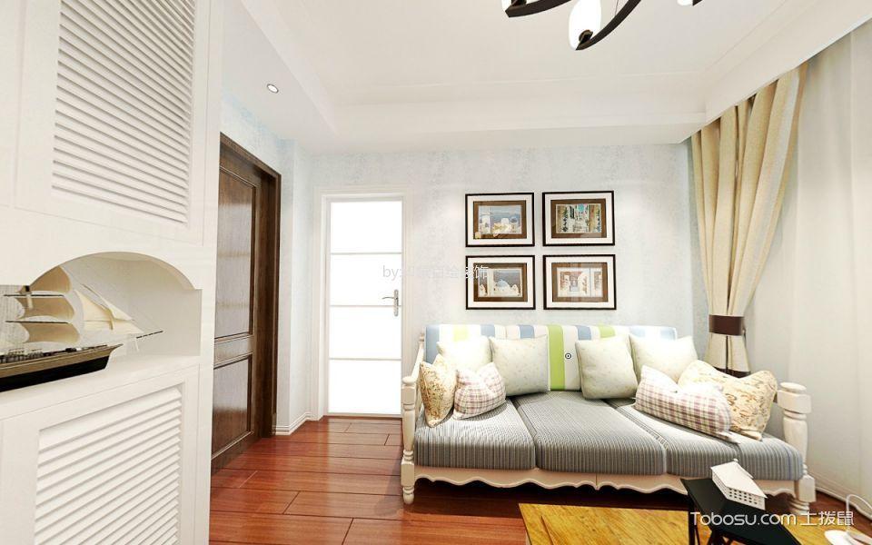 客厅红色地板砖地中海风格装饰设计图片