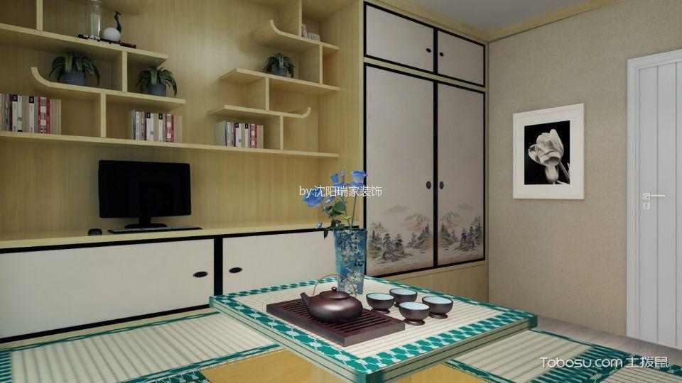 客厅白色榻榻米现代风格效果图