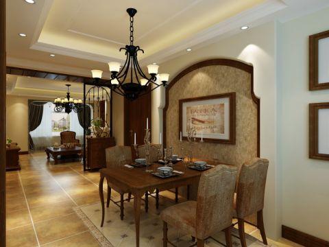 餐厅背景墙地中海风格效果图