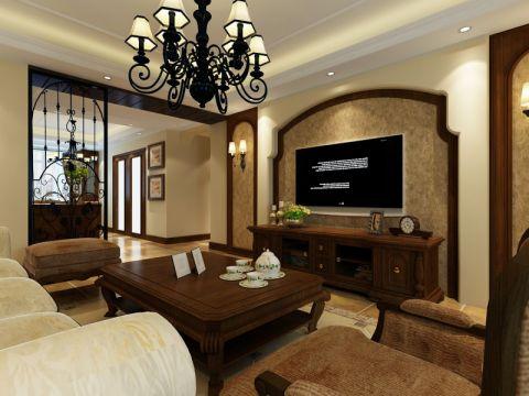 客厅推拉门地中海风格装潢效果图