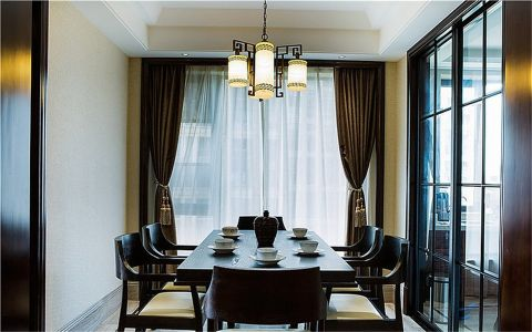 餐厅新中式风格装饰效果图