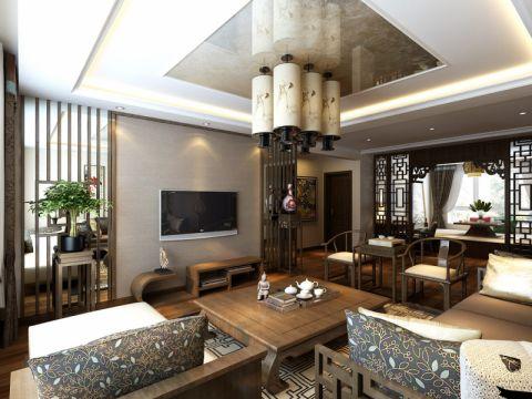 龙玺1号190平米三室两厅中式风格效果图
