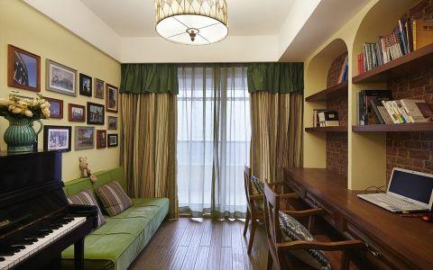 书房吊顶混搭风格效果图