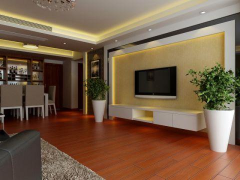客厅现代中式风格装潢设计图片