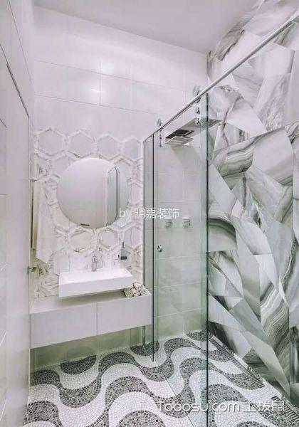 卫生间白色背景墙现代风格装潢效果图