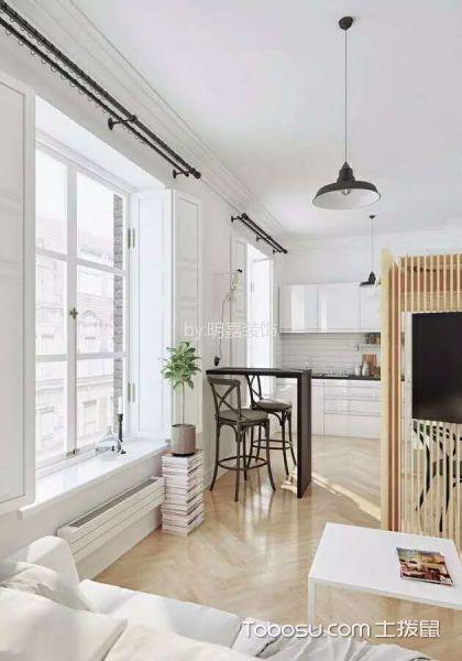 客厅白色飘窗现代风格装饰图片