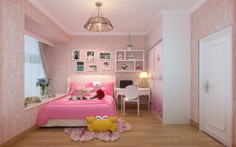 儿童房背景墙简约风格装饰设计图片