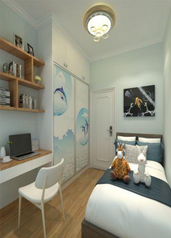 卧室博古架简约风格效果图