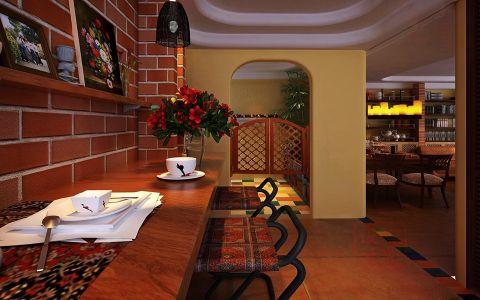 餐厅吧台东南亚风格装潢效果图