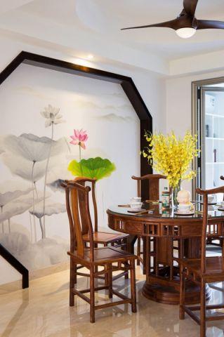餐厅背景墙混搭风格装潢效果图