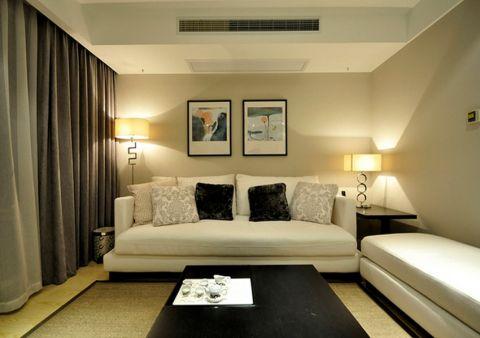 客厅照片墙现代简约风格装潢设计图片
