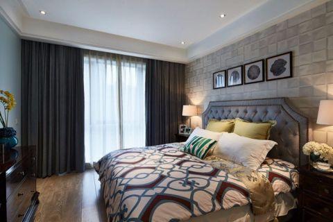 卧室窗帘地中海风格装潢图片