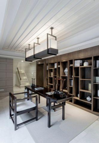 书房博古架现代简约风格装潢设计图片