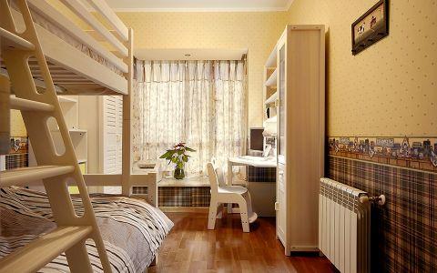 卧室窗帘美式风格装修图片