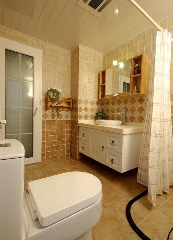 卫生间飘窗美式风格装潢图片