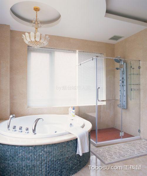 卫生间白色隔断美式风格效果图