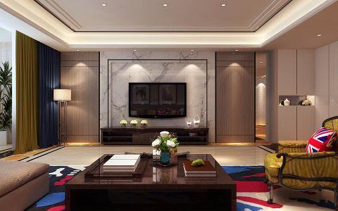 泰安枣行家园186平米时尚简约装修风格效果图