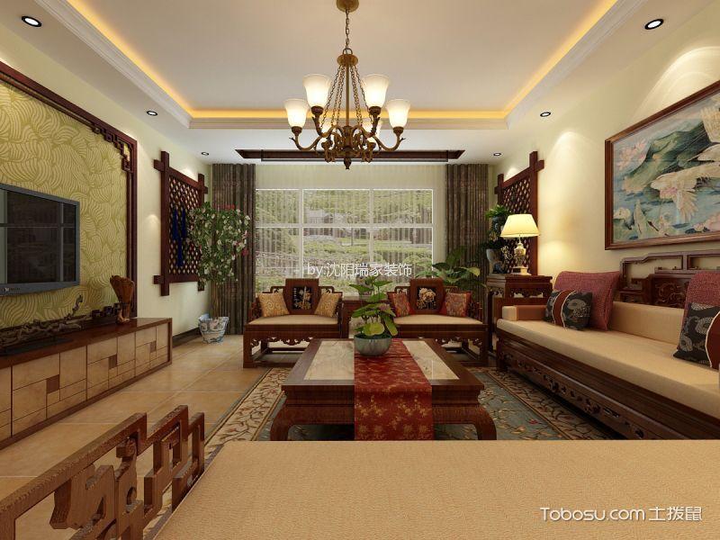 【华发岭南荟】158㎡三室两厅新中式风格效果图