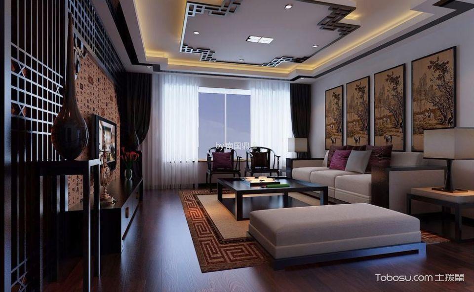 2019中式古典110平米装修设计 2019中式古典三居室装修设计图片