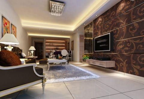 都市新巢现代三居室装修效果图