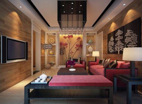 2018新中式120平米装修效果图片 2018新中式三居室装修设计图片
