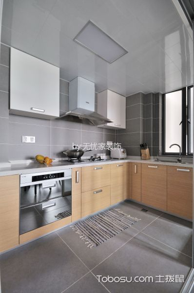 厨房白色吊顶简约风格装修效果图