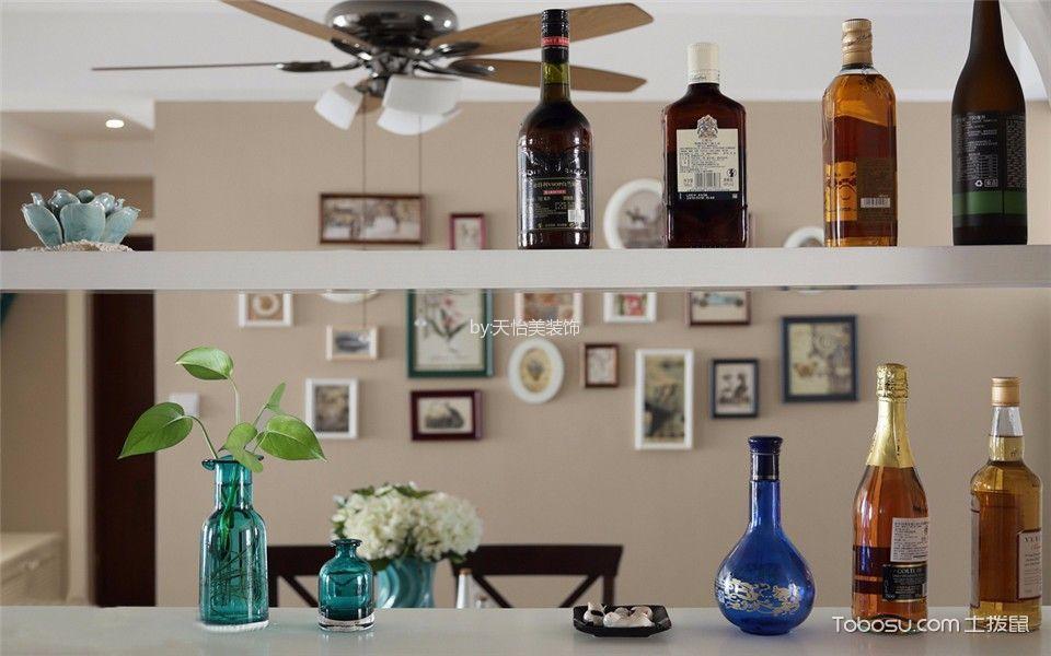 餐厅咖啡色照片墙美式风格装饰图片