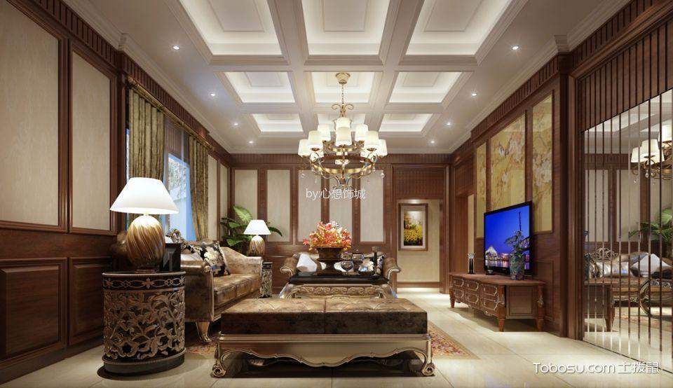 龙海别墅中式古典风格装修效果图