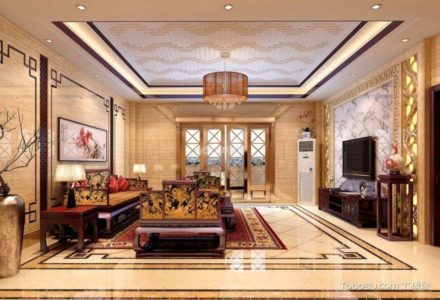 水青庭别墅300平复古中式风格效果图