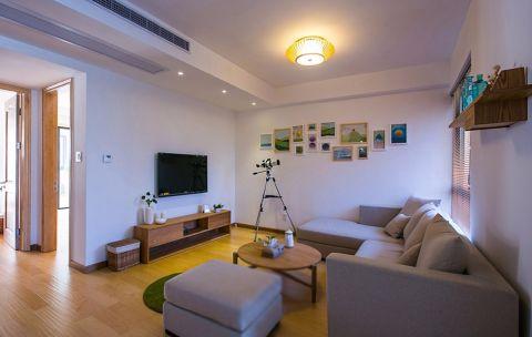 2019日式90平米效果图 2019日式三居室装修设计图片