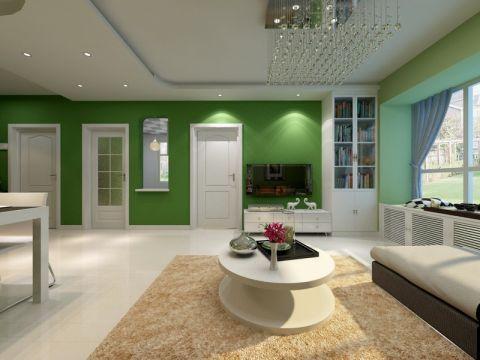 75平米三居室现代风装修效果图
