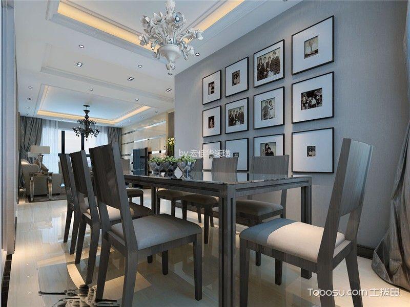 餐厅灰色照片墙现代风格装饰图片