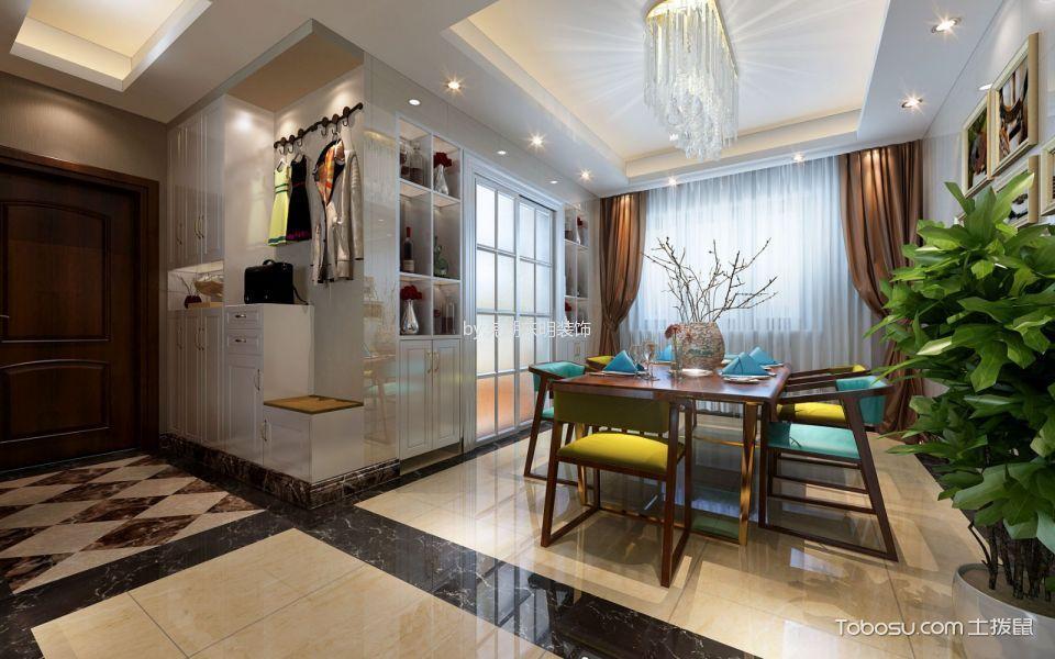 海顿公馆美式风格三居室装修案例