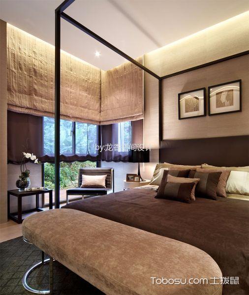 卧室灰色照片墙简约风格装潢设计图片