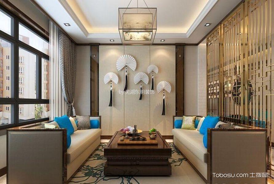 客厅 背景墙_国贸天琴湾中式风格装修效果图