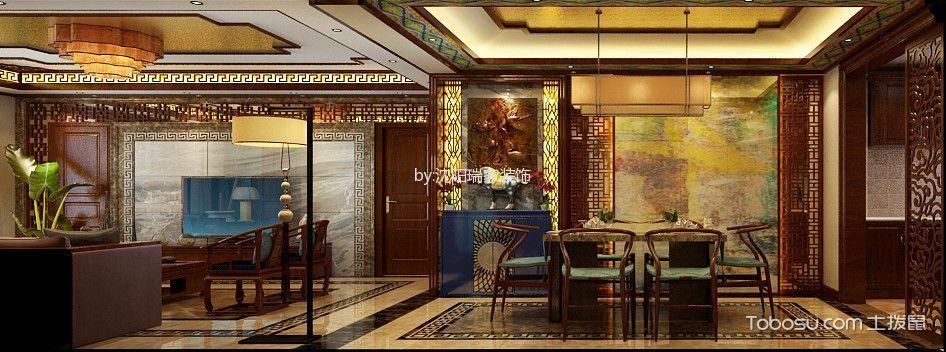 龙湖唐宁one三室两厅中式风格效果图