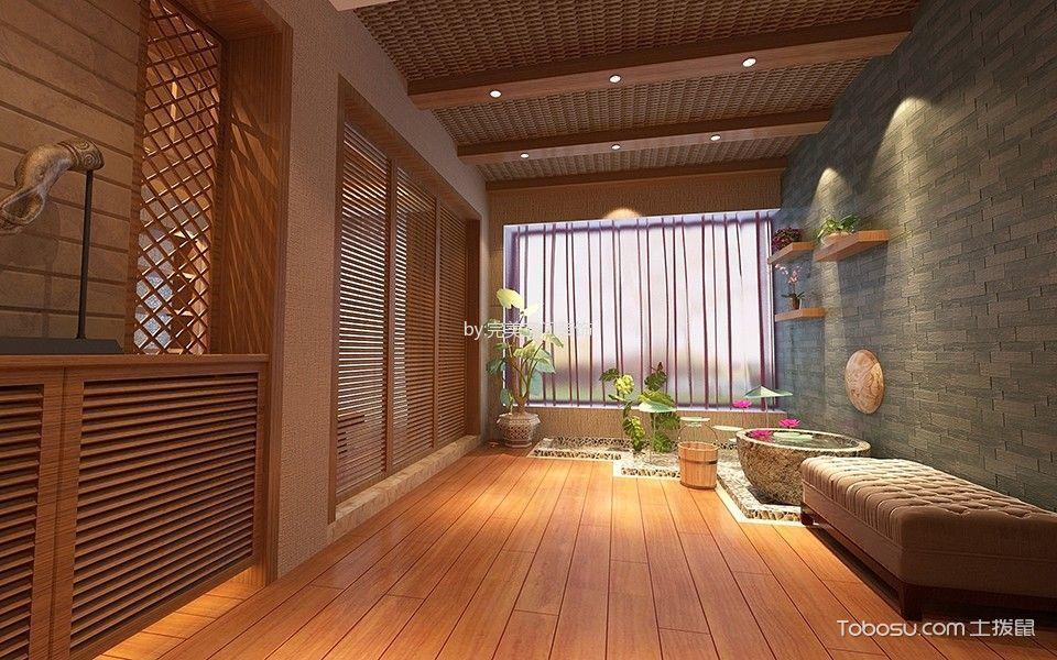 玄关米色隐形门现代简约风格装潢设计图片