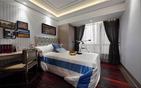 設計精巧雙人床裝潢實景圖