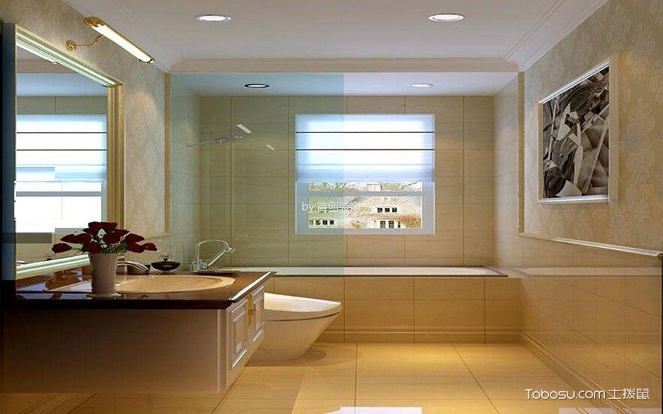 卫生间白色隔断欧式风格装潢图片