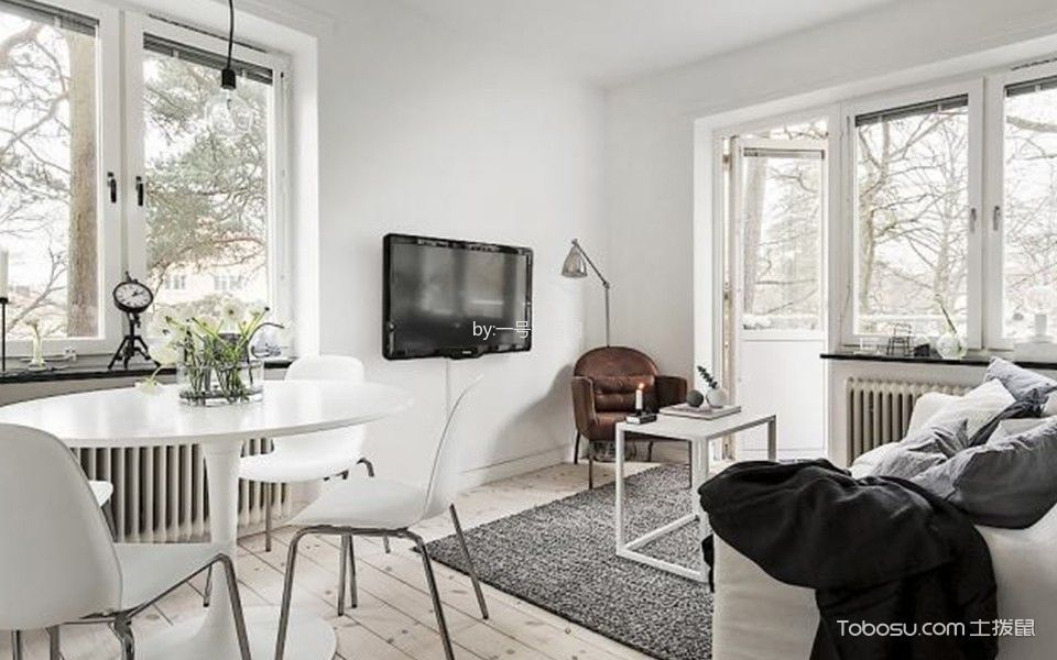 朝阳新城单身公寓北欧风格