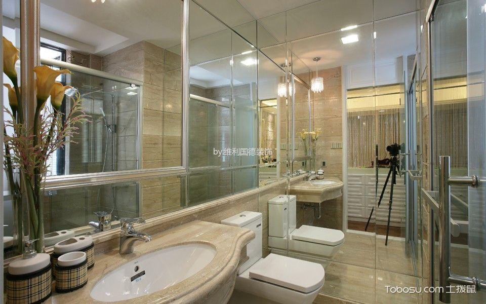 卫生间白色隔断欧式风格装饰效果图