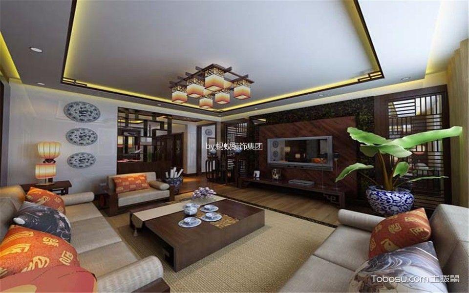 富力尚悦居两室中式风格装修效果图