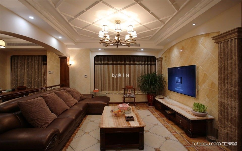 保利罗兰香谷小区140平中式装修风格设计